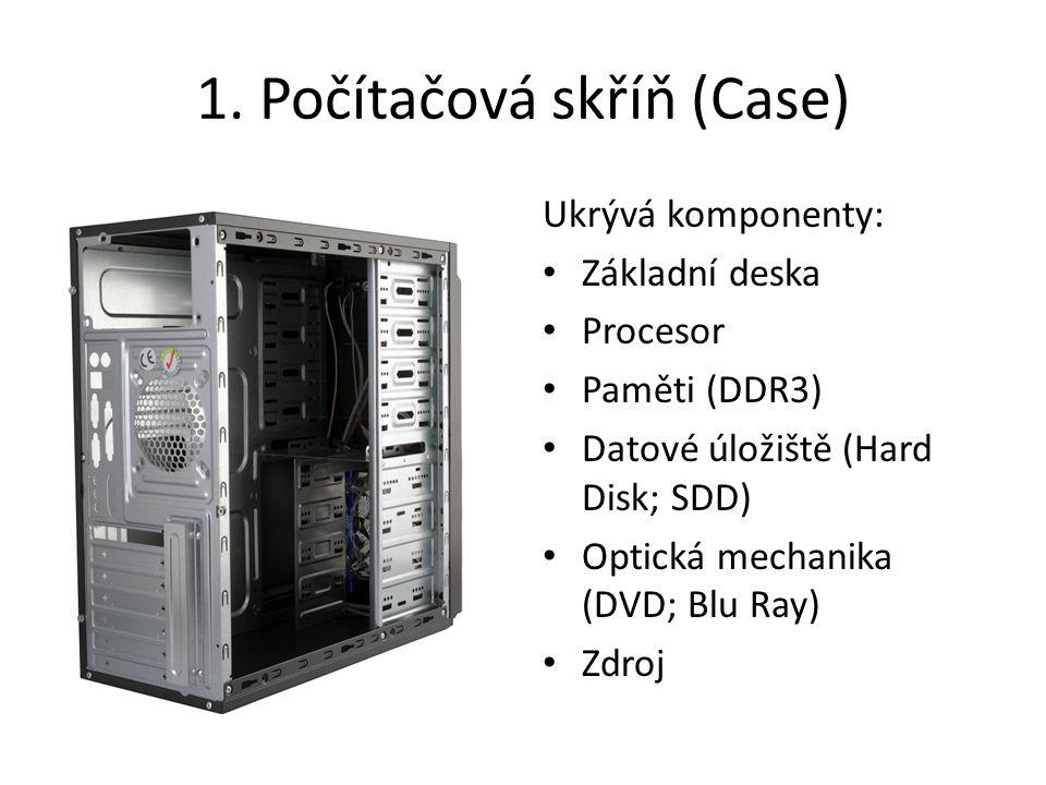 1. Počítačová skříň (Case)