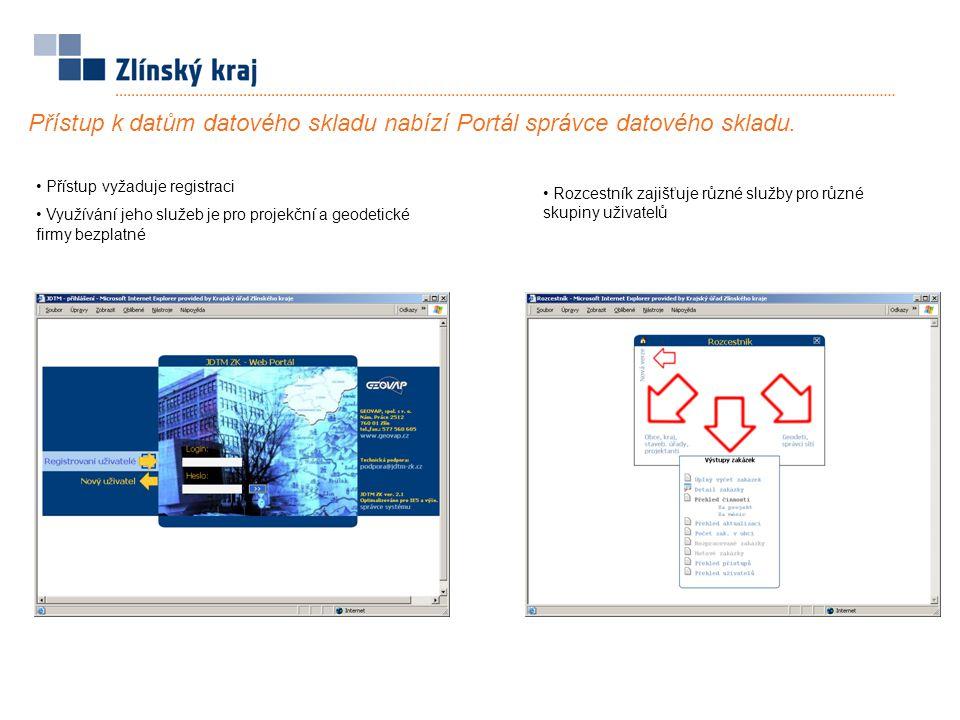 Přístup k datům datového skladu nabízí Portál správce datového skladu.