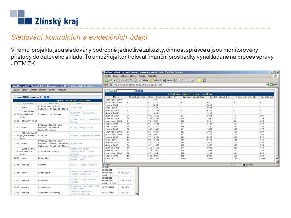Sledování kontrolních a evidenčních údajů