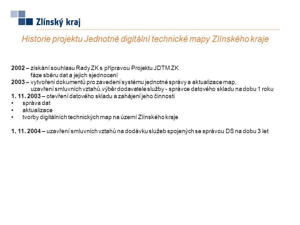 Historie projektu Jednotné digitální technické mapy Zlínského kraje