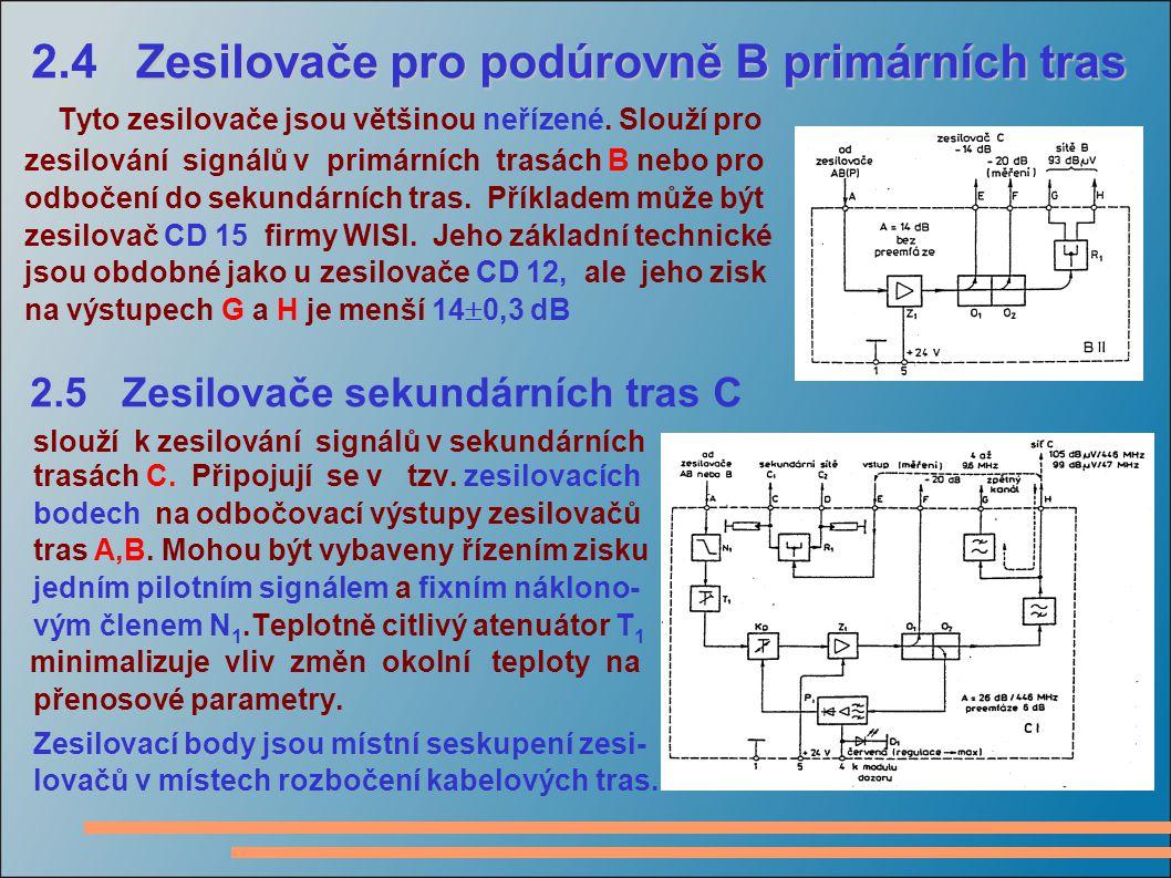 2.5 Zesilovače sekundárních tras C