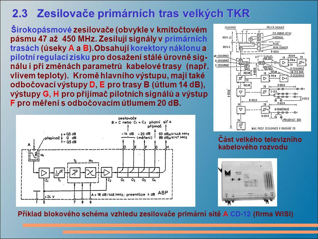 2.3 Zesilovače primárních tras velkých TKR