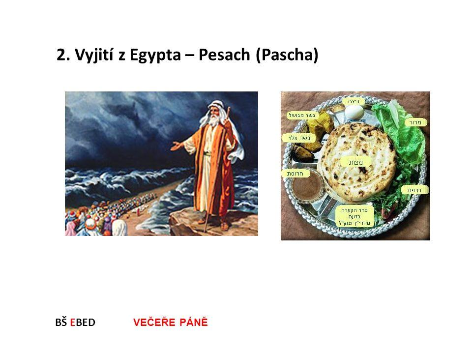 2. Vyjití z Egypta – Pesach (Pascha)