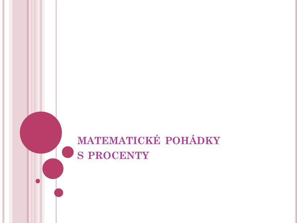 matematické pohádky s procenty