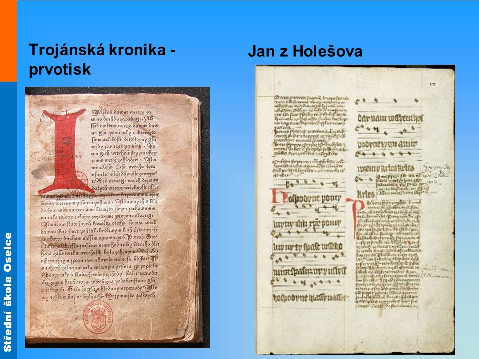 Jan z Holešova Trojánská kronika - prvotisk