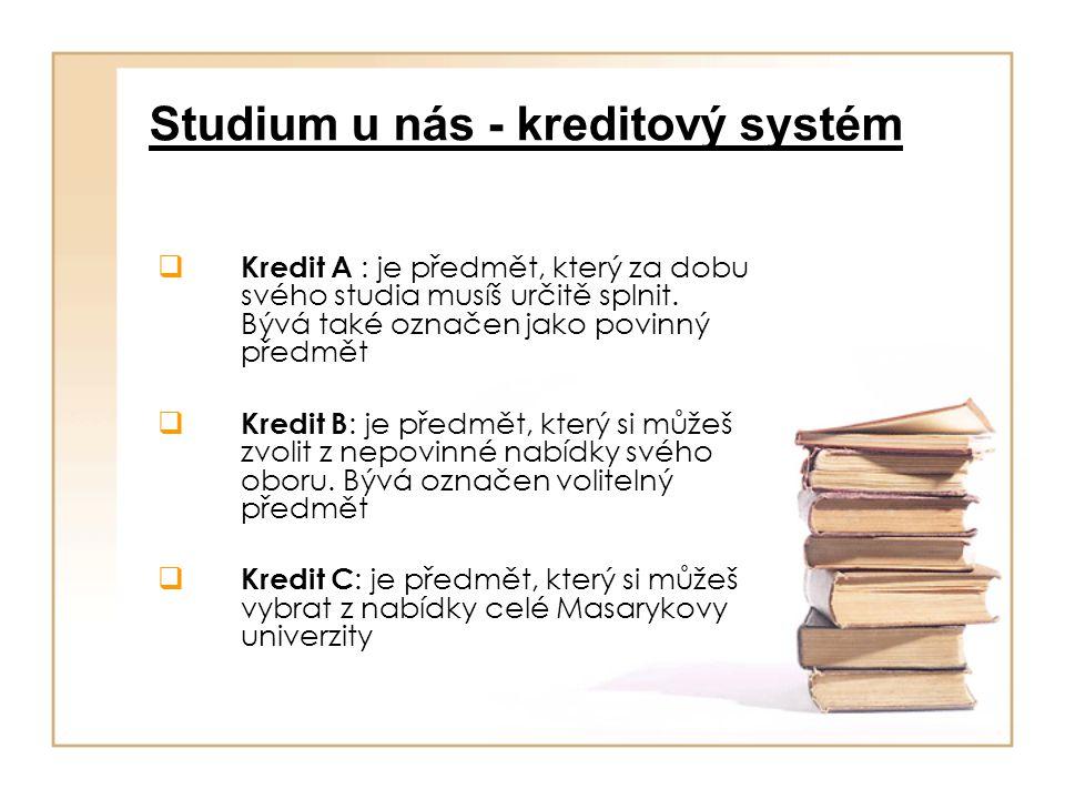Studium u nás - kreditový systém