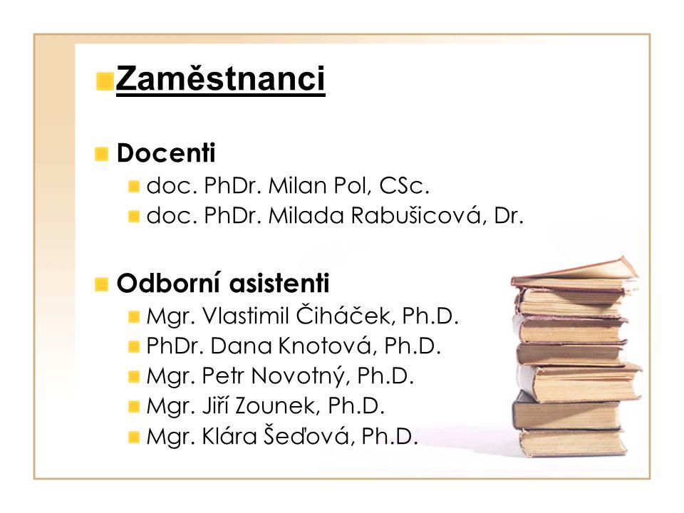 Zaměstnanci Docenti Odborní asistenti doc. PhDr. Milan Pol, CSc.