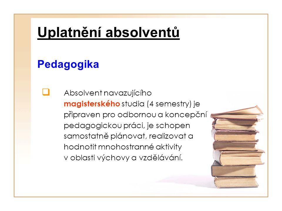 Uplatnění absolventů Pedagogika