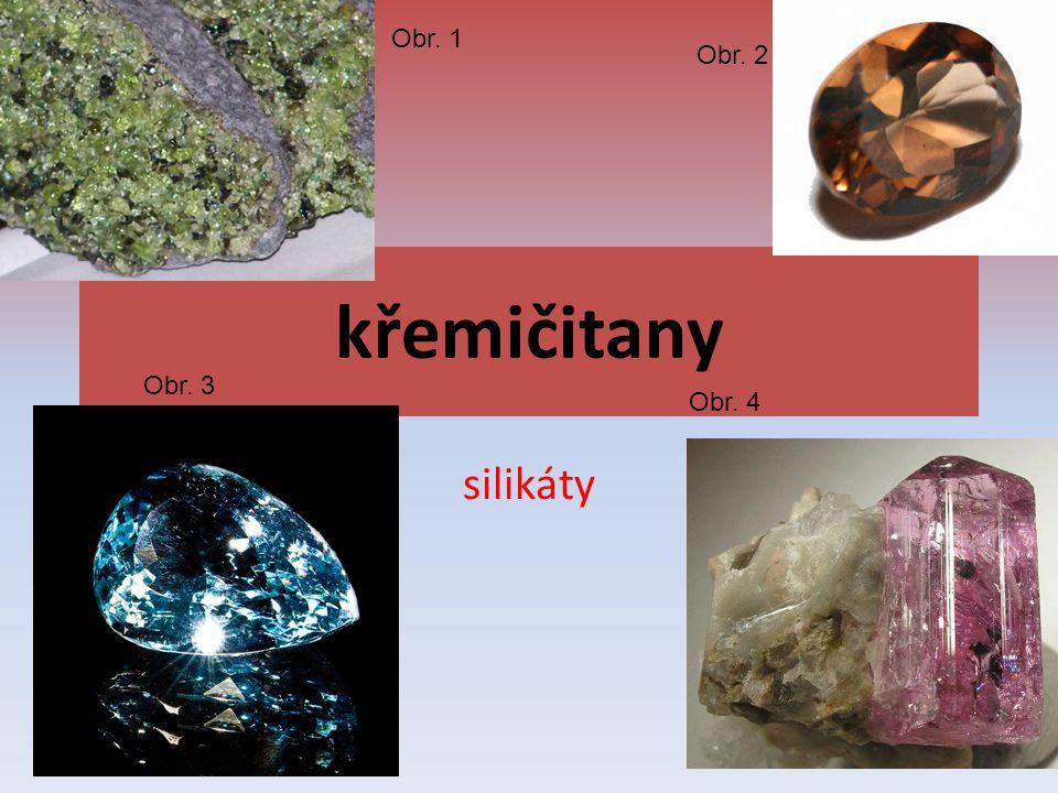Obr. 1 Obr. 2 křemičitany Obr. 3 Obr. 4 silikáty