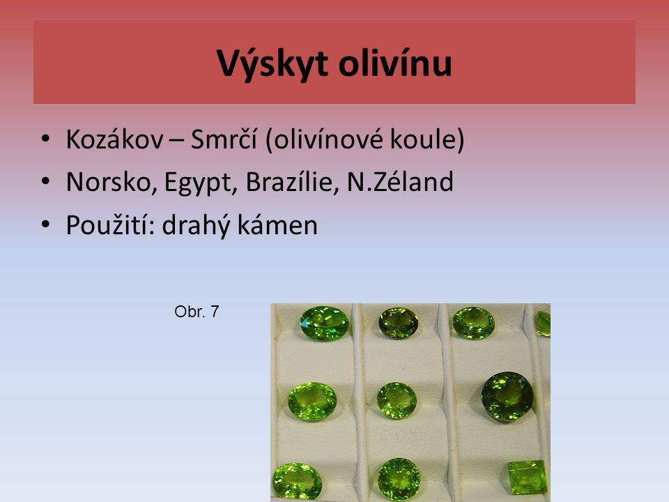 Výskyt olivínu Kozákov – Smrčí (olivínové koule)