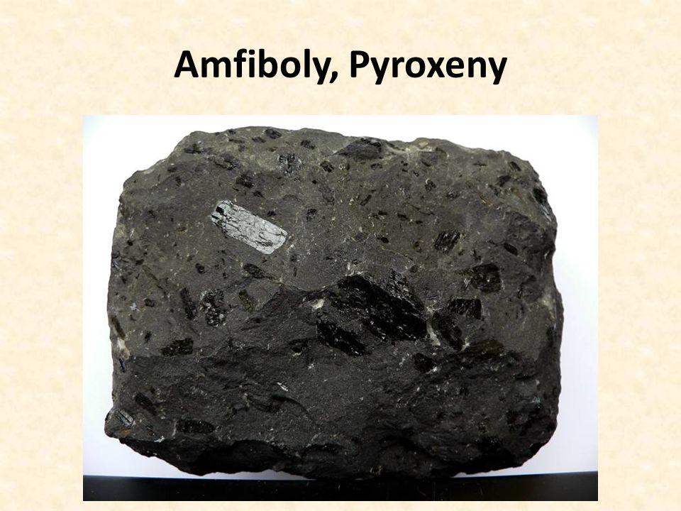Amfiboly, Pyroxeny