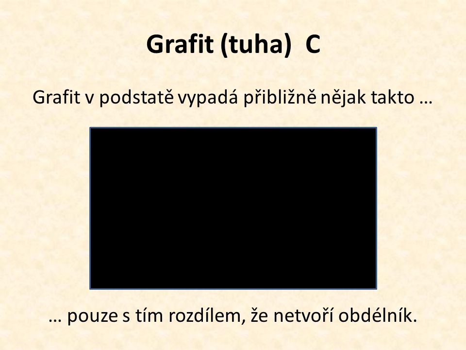 Grafit (tuha) C Grafit v podstatě vypadá přibližně nějak takto …