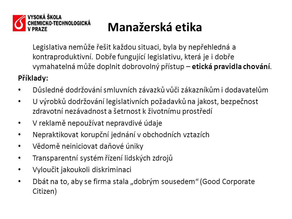 Manažerská etika