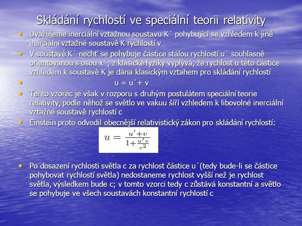 Skládání rychlostí ve speciální teorii relativity