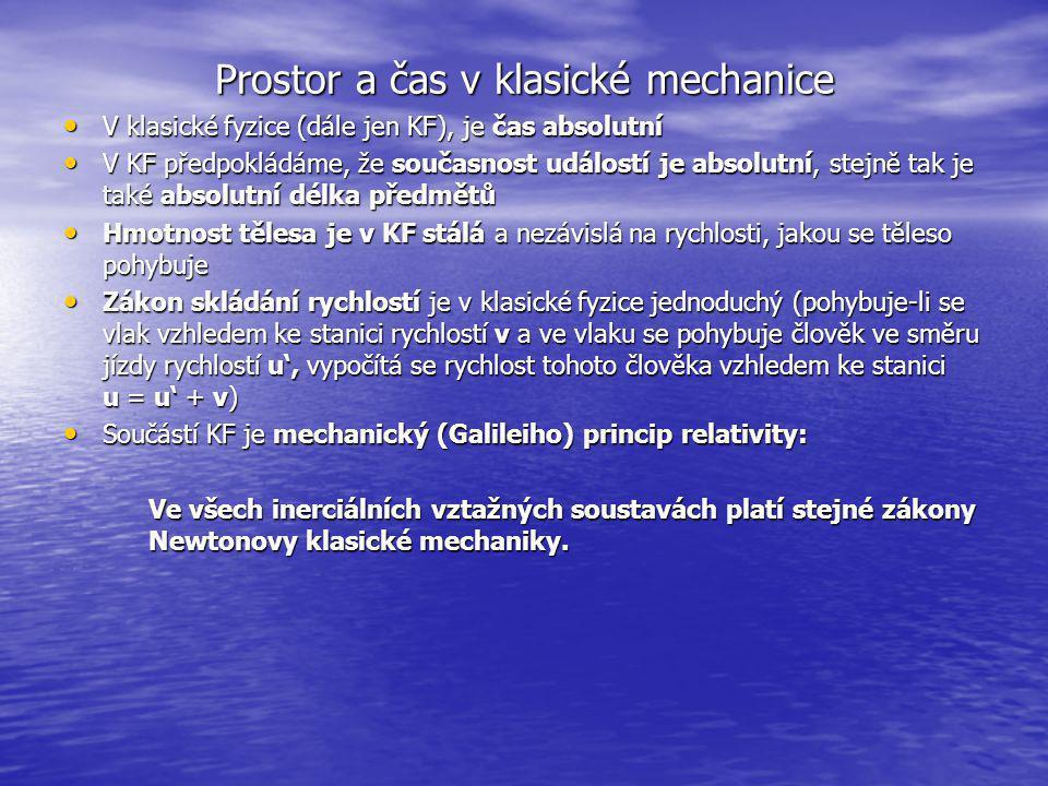 Prostor a čas v klasické mechanice