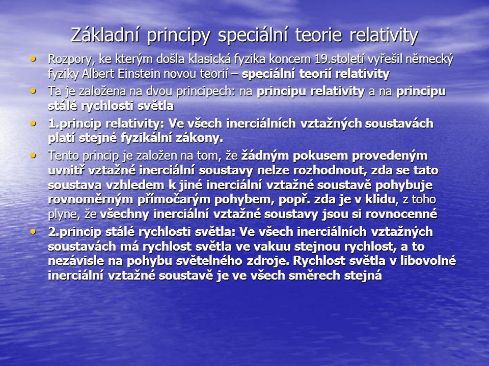 Základní principy speciální teorie relativity