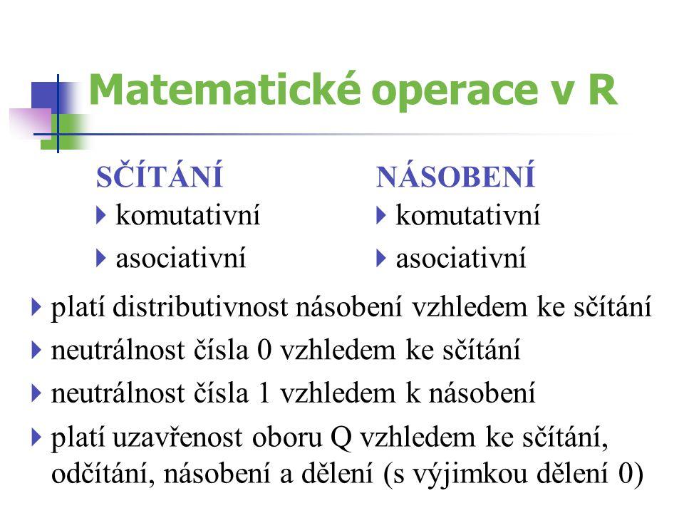 Matematické operace v R