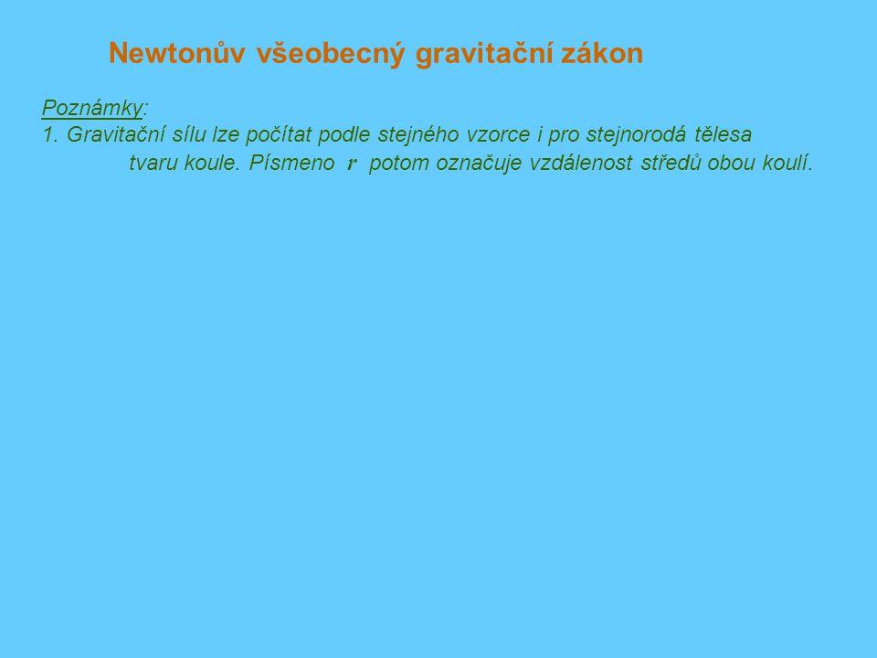 Newtonův všeobecný gravitační zákon