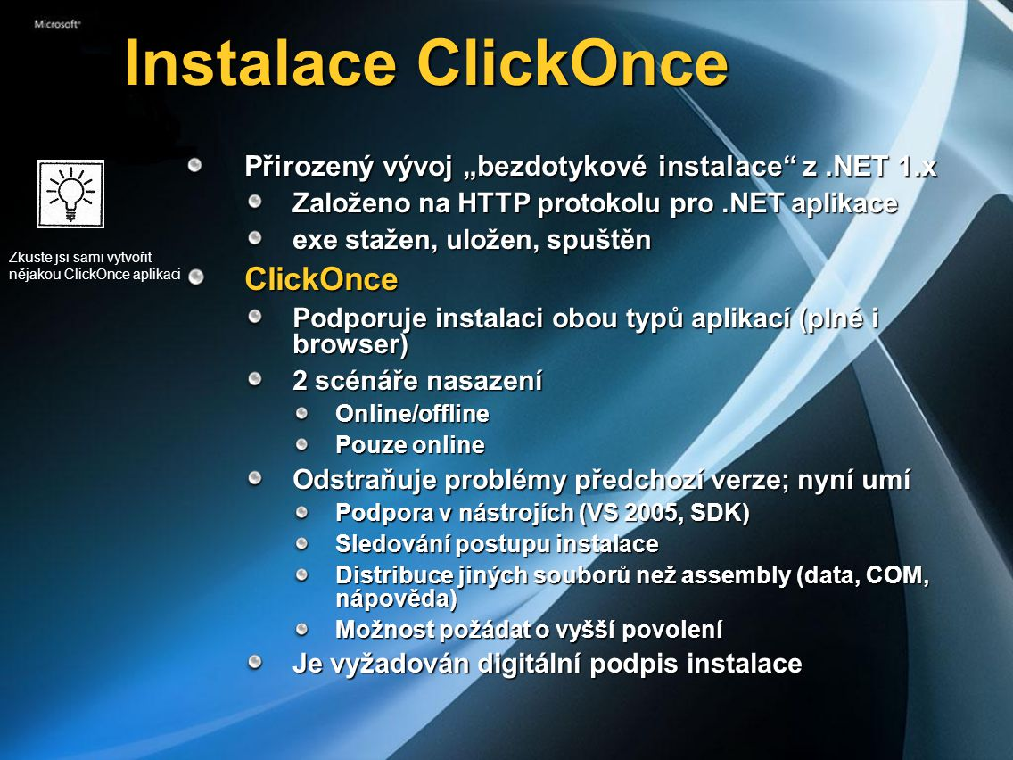 Instalace ClickOnce ClickOnce