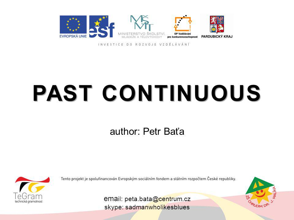 Past Continuous author: Petr Baťa email: peta.bata@centrum.cz