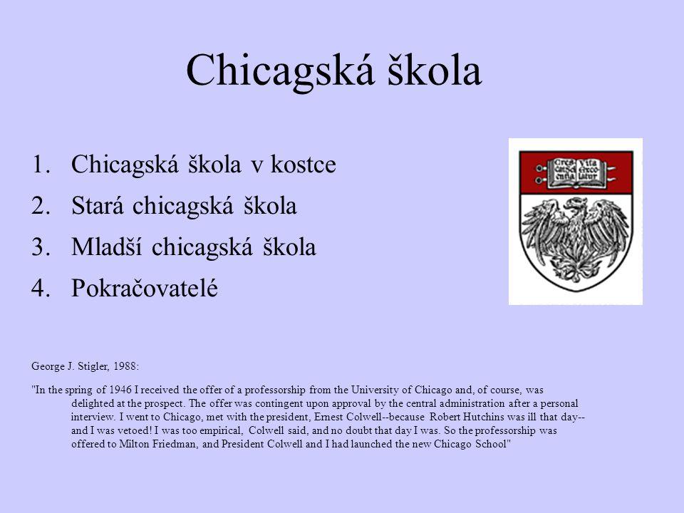 Chicagská škola Chicagská škola v kostce Stará chicagská škola
