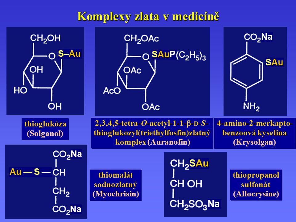 Komplexy zlata v medicíně