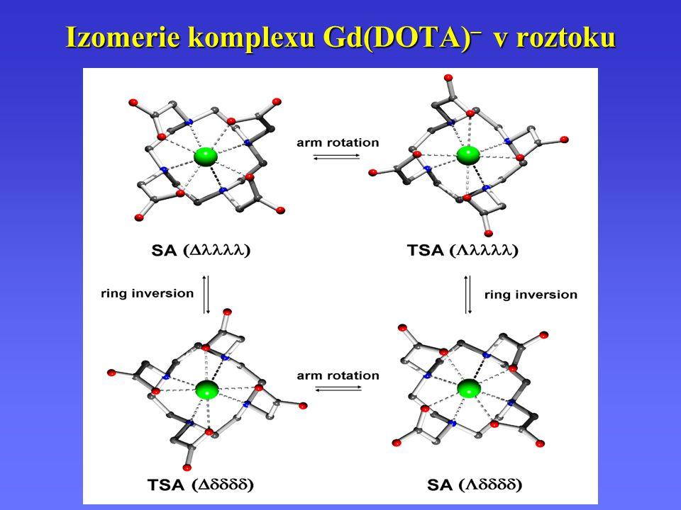 Izomerie komplexu Gd(DOTA)– v roztoku