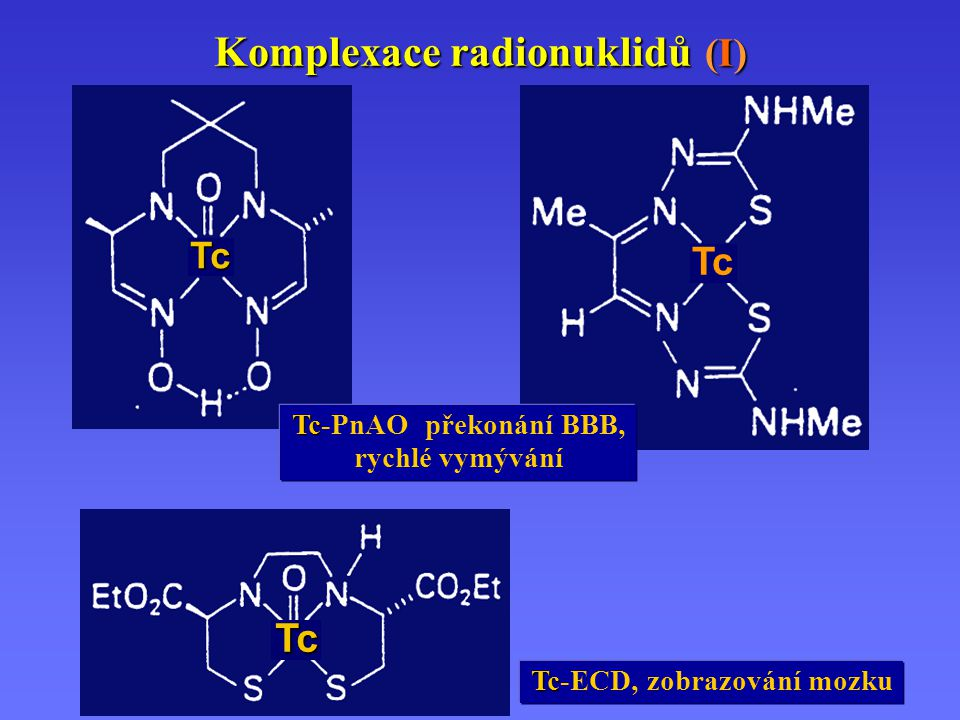 Komplexace radionuklidů (I)