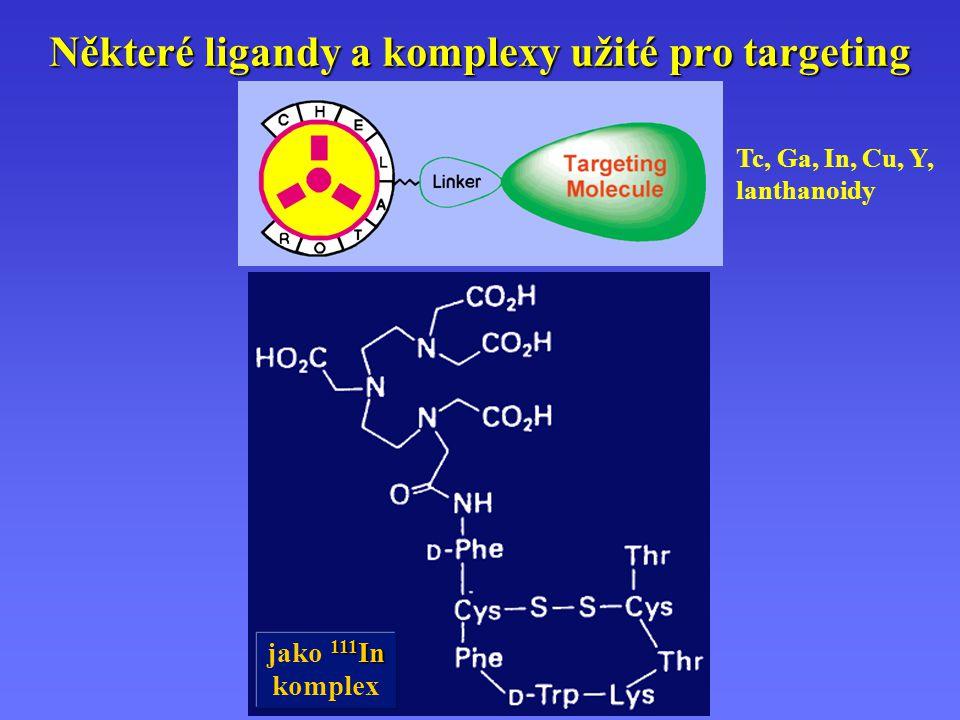 Některé ligandy a komplexy užité pro targeting