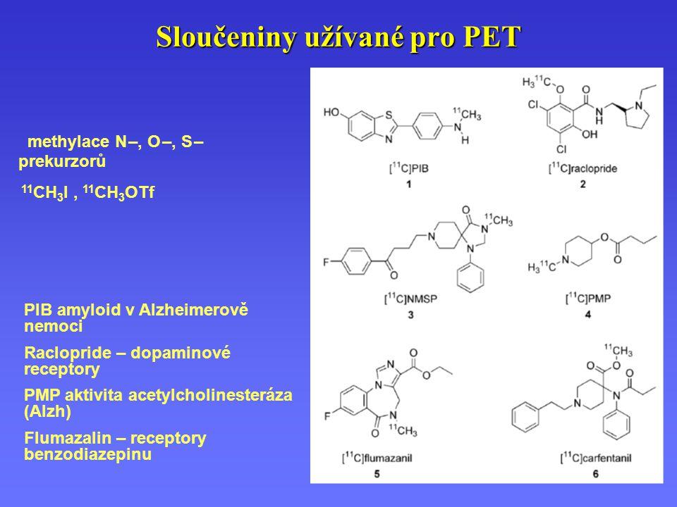Sloučeniny užívané pro PET