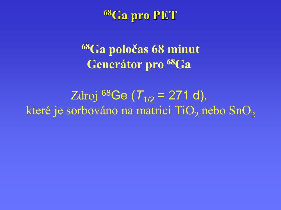 které je sorbováno na matrici TiO2 nebo SnO2