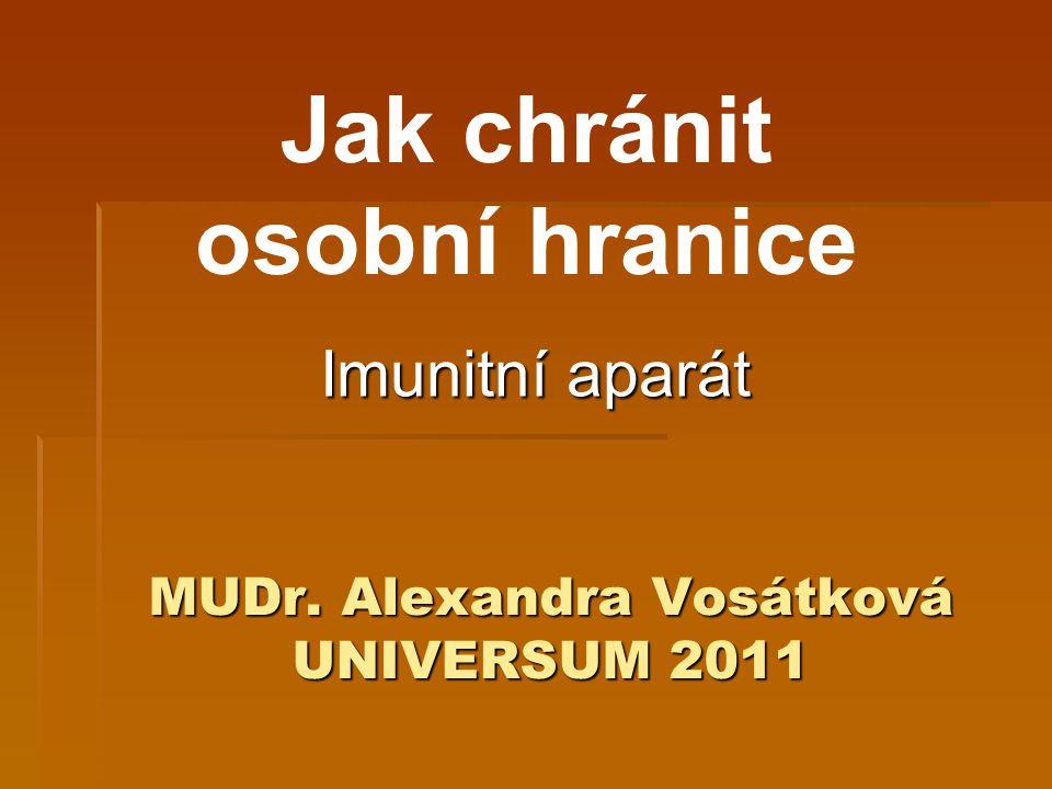 MUDr. Alexandra Vosátková UNIVERSUM 2011