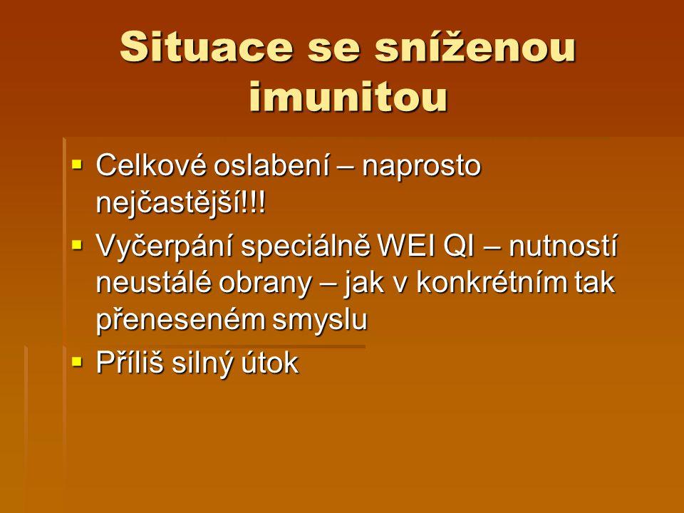 Situace se sníženou imunitou