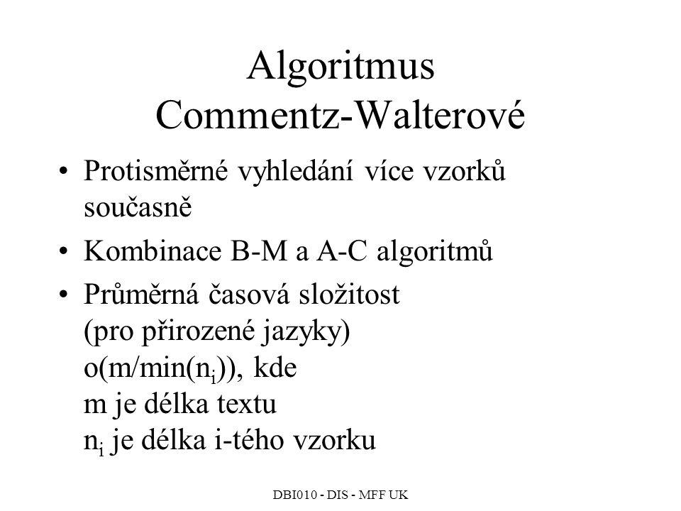 Algoritmus Commentz-Walterové