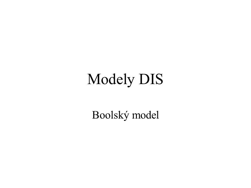 Modely DIS Boolský model 133