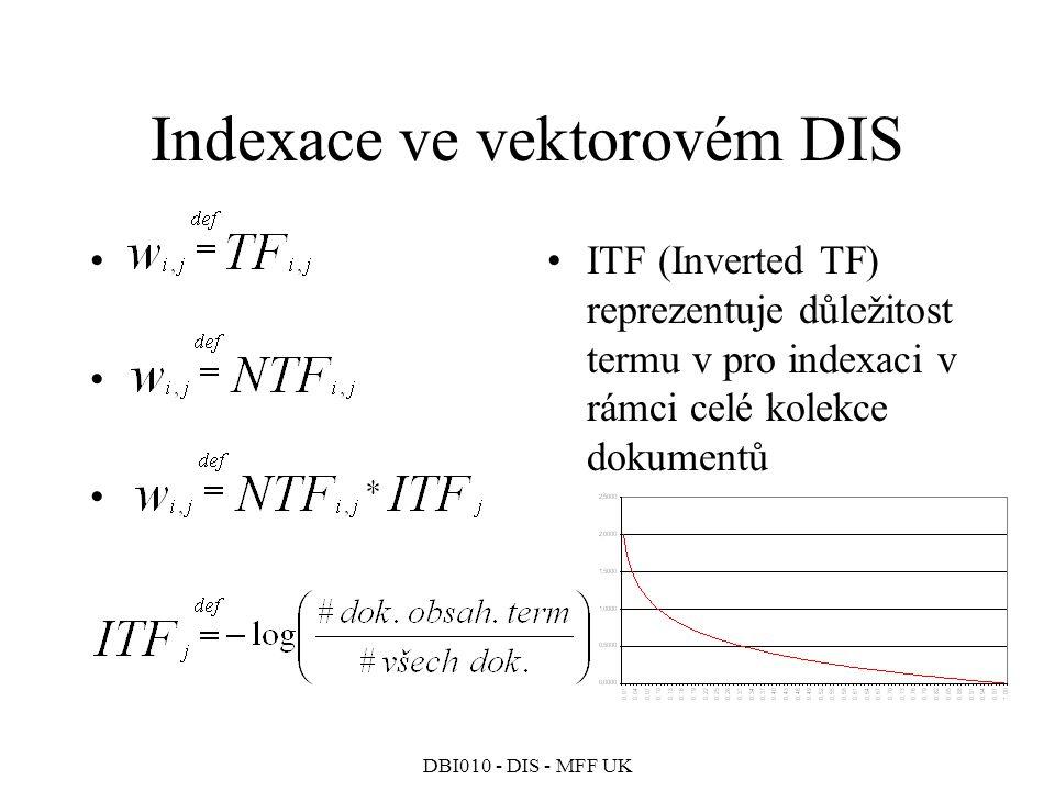 Indexace ve vektorovém DIS
