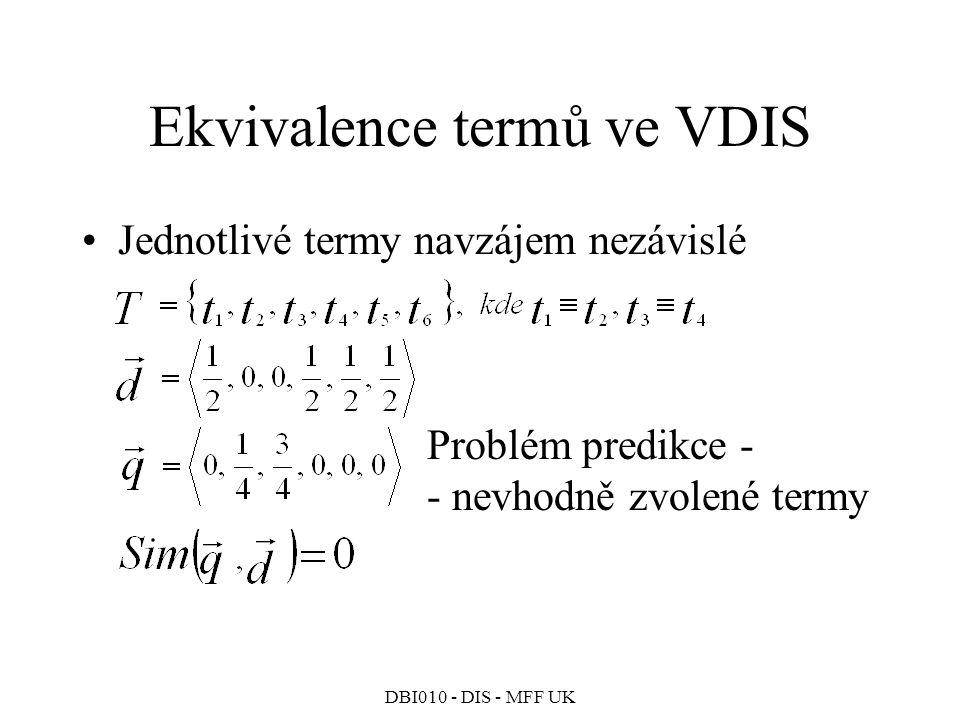 Ekvivalence termů ve VDIS