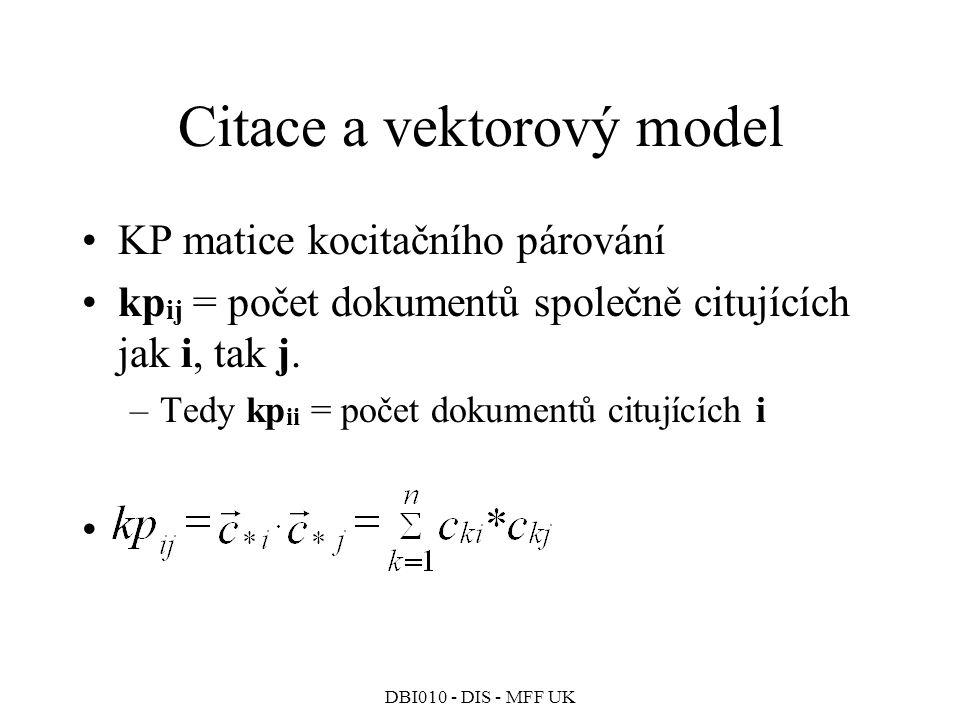 Citace a vektorový model