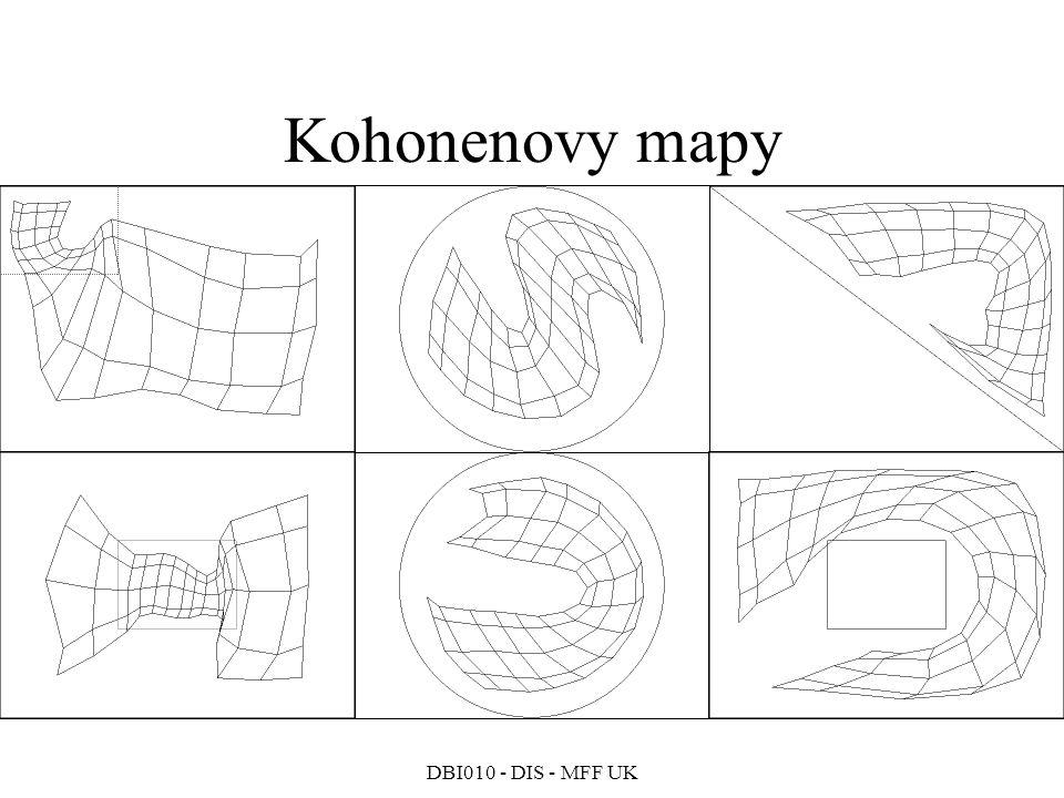 Kohonenovy mapy DBI010 - DIS - MFF UK 233