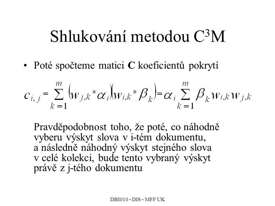 Shlukování metodou C3M