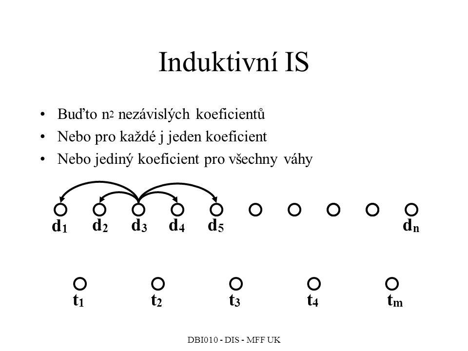 Induktivní IS d1 d2 d3 d4 d5 dn t1 t2 t3 t4 tm