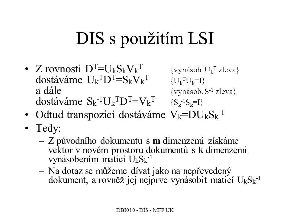 DIS s použitím LSI