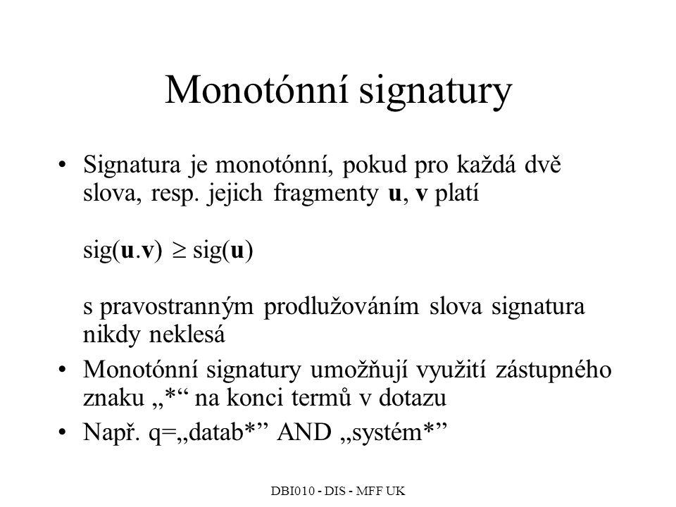 Monotónní signatury