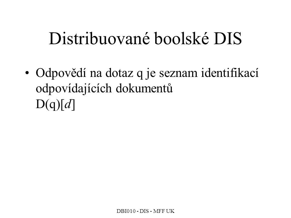 Distribuované boolské DIS
