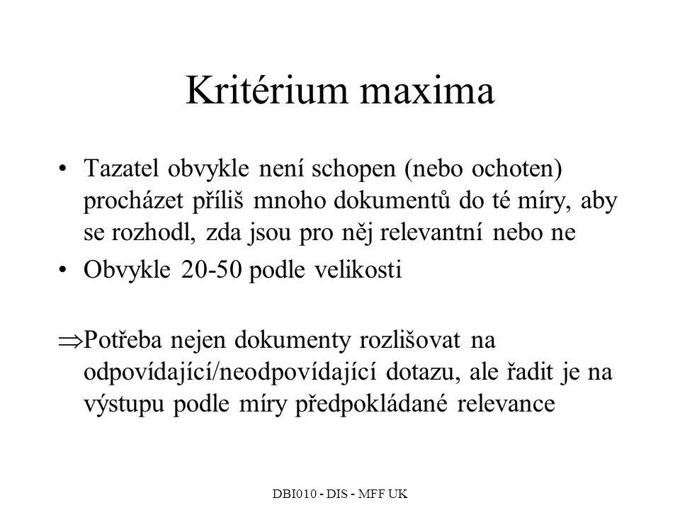 Kritérium maxima