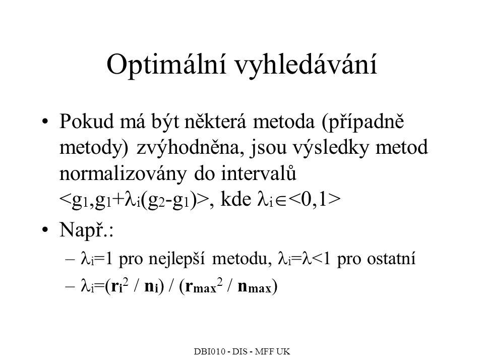 Optimální vyhledávání