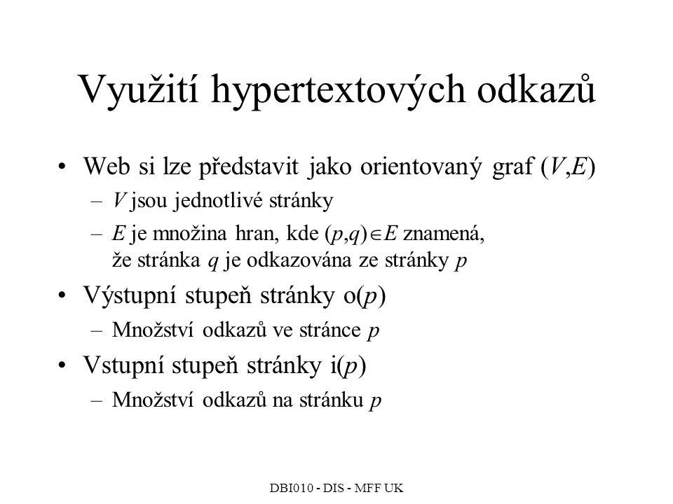 Využití hypertextových odkazů