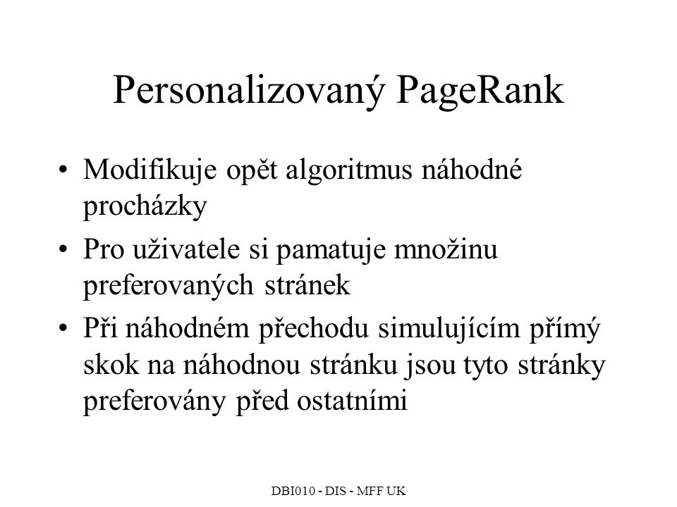Personalizovaný PageRank