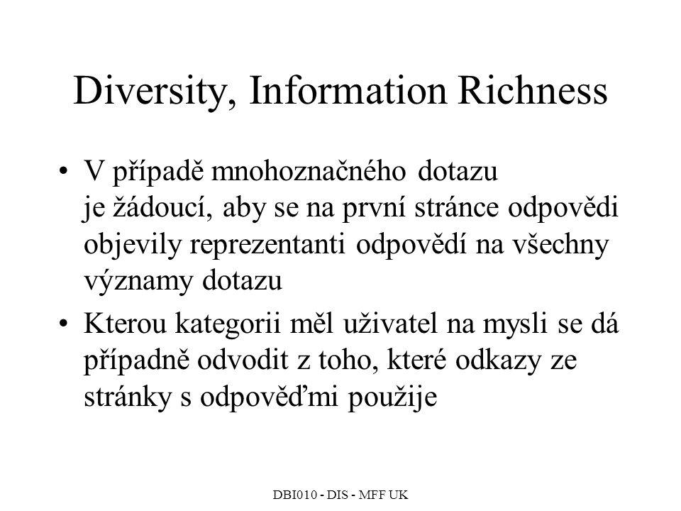 Diversity, Information Richness