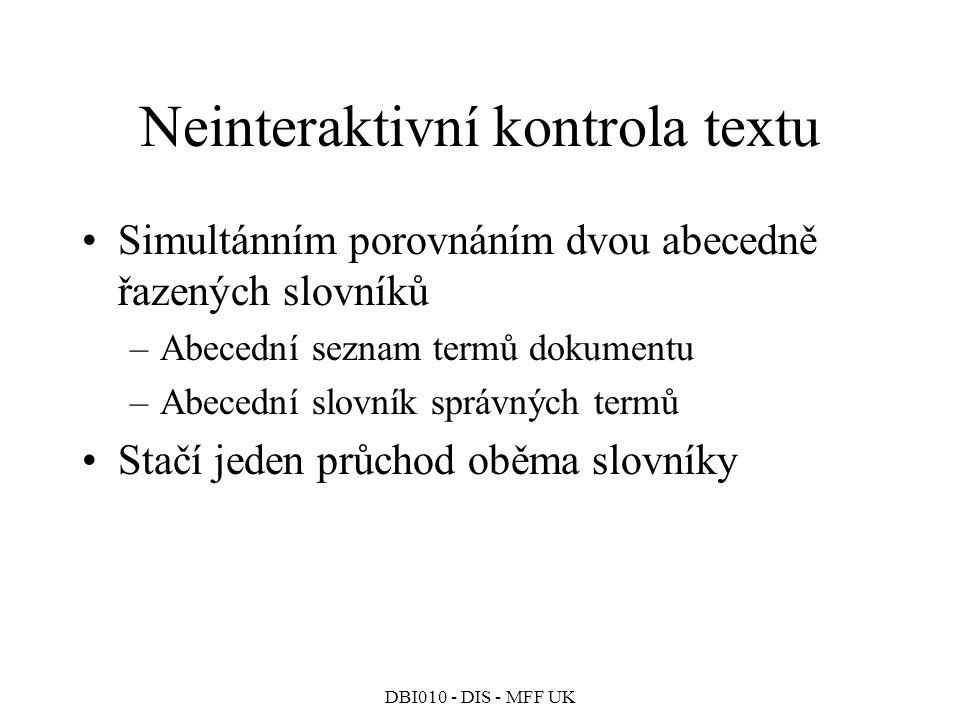 Neinteraktivní kontrola textu